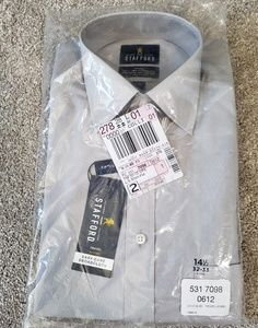NWT Gray Mens Business Button Up